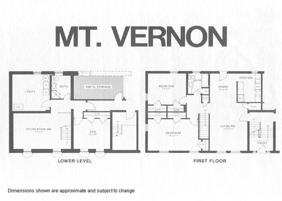 Mount vernon model floor plan dream house pinterest mount vernon malvernweather Gallery