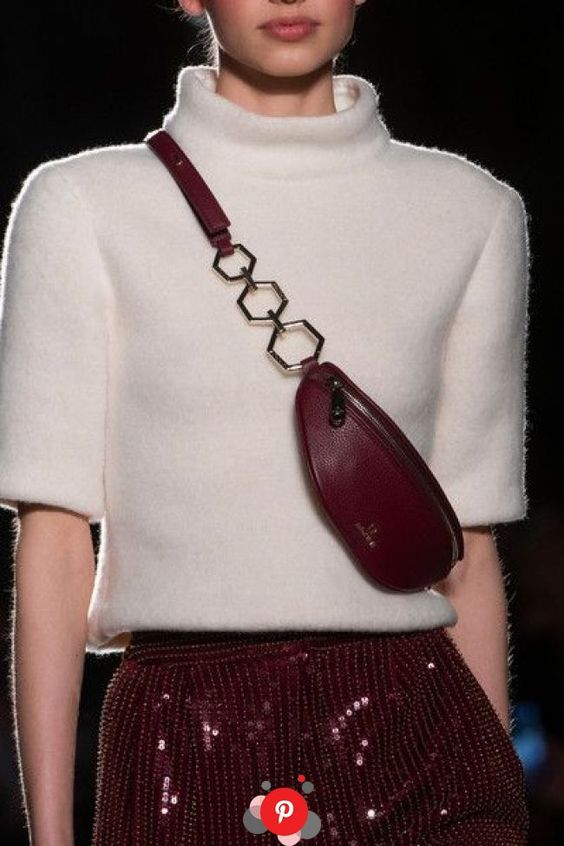 Fanny packs on the runway