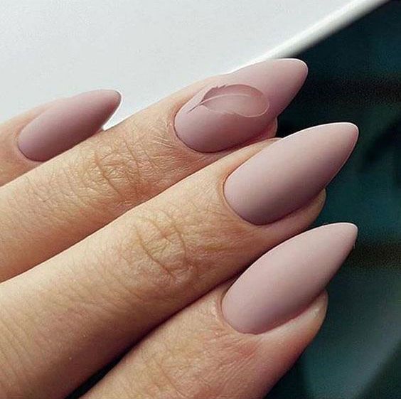 Http Www Tigerfeng Com Wp Content Uploads 2019 04 51 Almond Matte Nails Jpg In 2020 Minimalist Nails Trendy Nails Nails