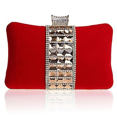 Silk Wedding/Special Occasion Clutches/Evening Handbags with Rhinestones/Acrylic Diamond (More Colors)