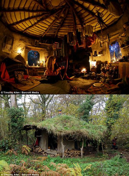 Off the grid hobbit and life on pinterest - Off grid hobbit house ...