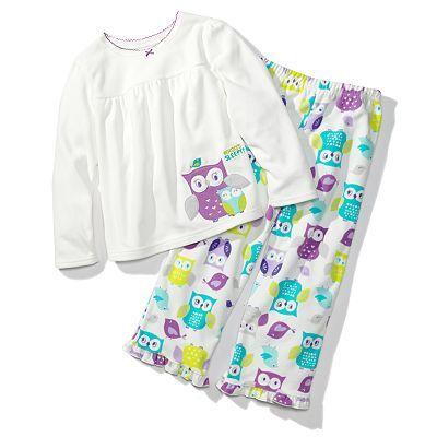 Carter's Owl Microfleece Pajama Set - Girls Kohls | Night Owl ...