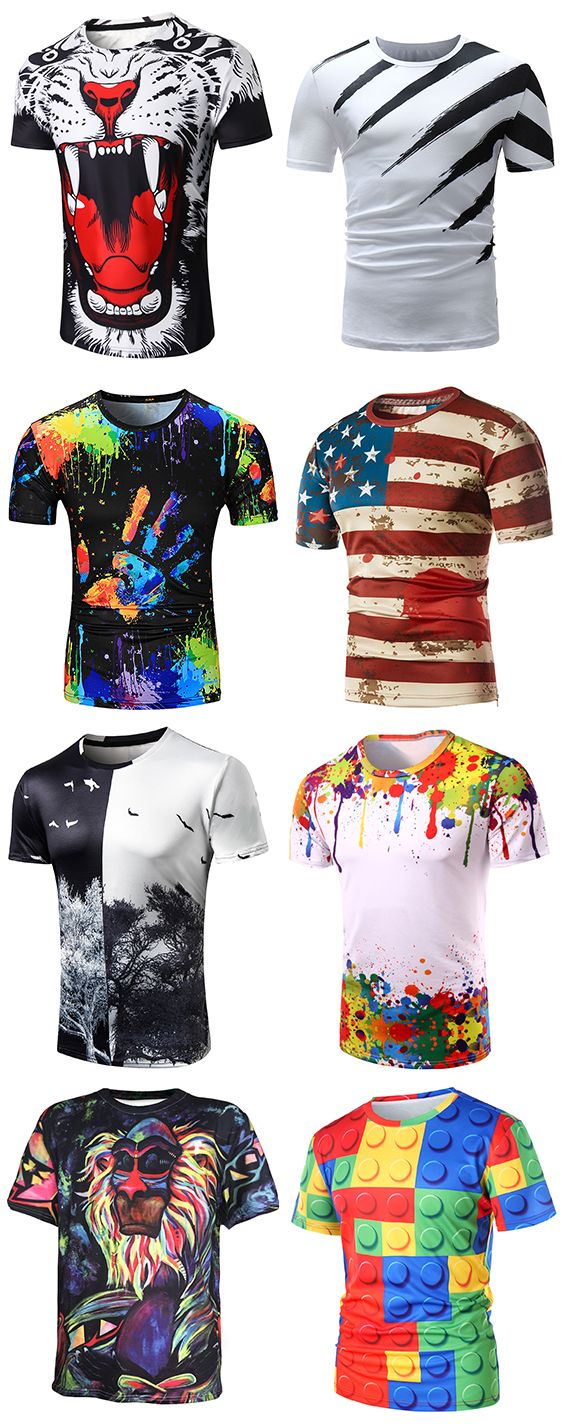 Casual T Shirts for Men - Buy new arrivals & latest Casual T Shirts for Men from Dresslily.com.FREE SHIPPING WORLDWIDE!#men