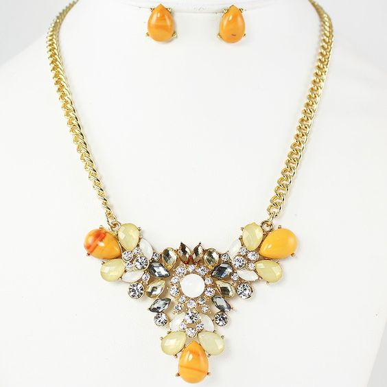 Yellow Necklace Set via Thorpe's Emporium. Click on the image to see more!