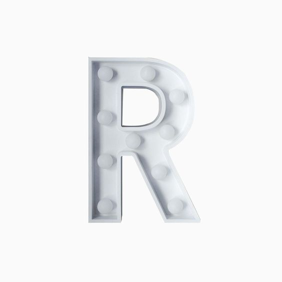 R Initial Marquee Light