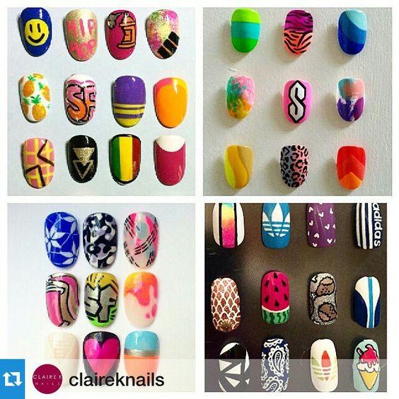 Sporty nail designs