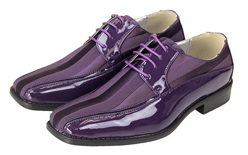 Mens Purple Patent Dress Oxford With Stripes Dress Shoes Men Purple Dress Shoes Lavender Shoes