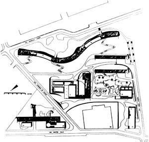 Implantação do Conjunto habitacional Pedregulho - Repertório para Projeto III