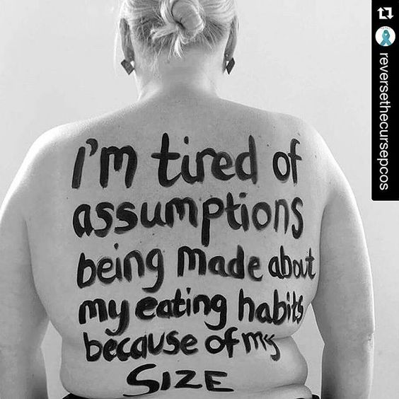 Do you feel tired of assumptions being made about your eating habits because of your size? #thyroid disease can affect all aspects of #metabolism, make you gain weight and make it difficult to #loseweight but so many people are unaware of this fact
