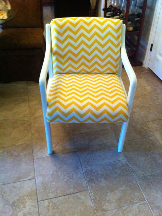 Yellow Chevron Refurbished Office Chair. This Would Be Cute In A Classroom.  My Sister