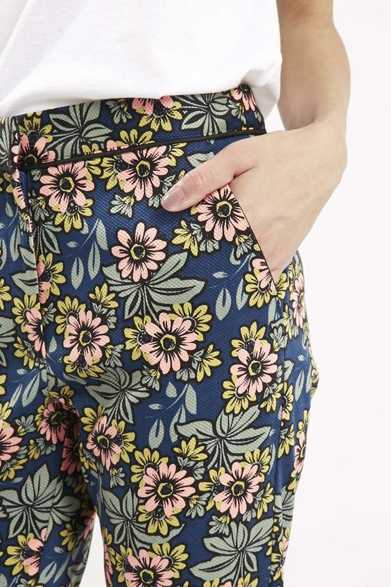 Photo 5 of Daisy Print Cigarette Trousers