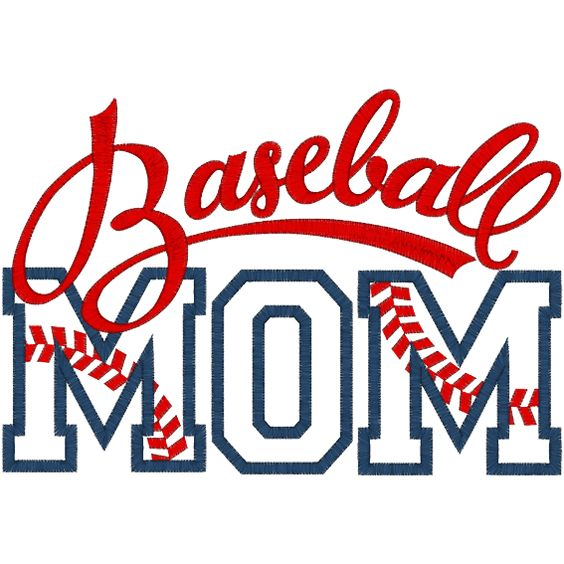 digital baseball quote images | Sayings (A1291) Baseball Mom Applique 6x10
