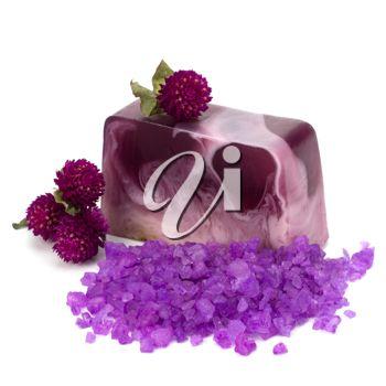 iPHOTOS.com - Luxury soap isolated on white background