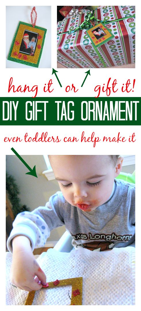 Gift Tag Ornaments - Christmas Crafts For Kids