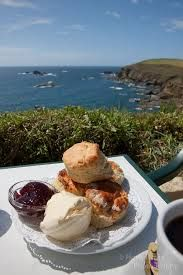 Cornish Cream Tea, by the sea ~ Yes please