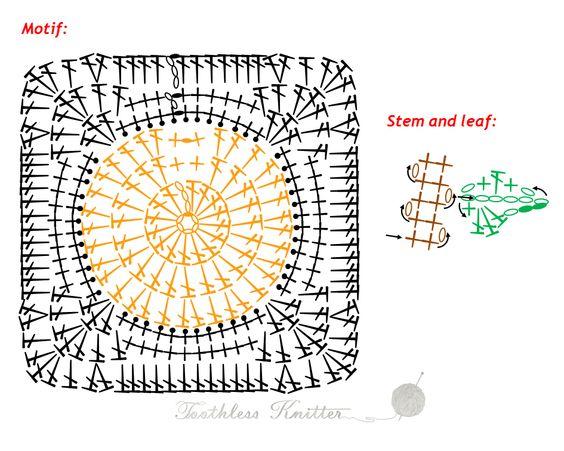 Granny Squares i Motywy: Dynia / Granny Squares and Motifs: Pumpkin