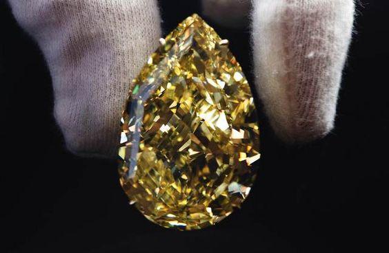 Quer o diamante amarelo mais puro do mundo? Vá ao leilão - Dinheiro Vivo