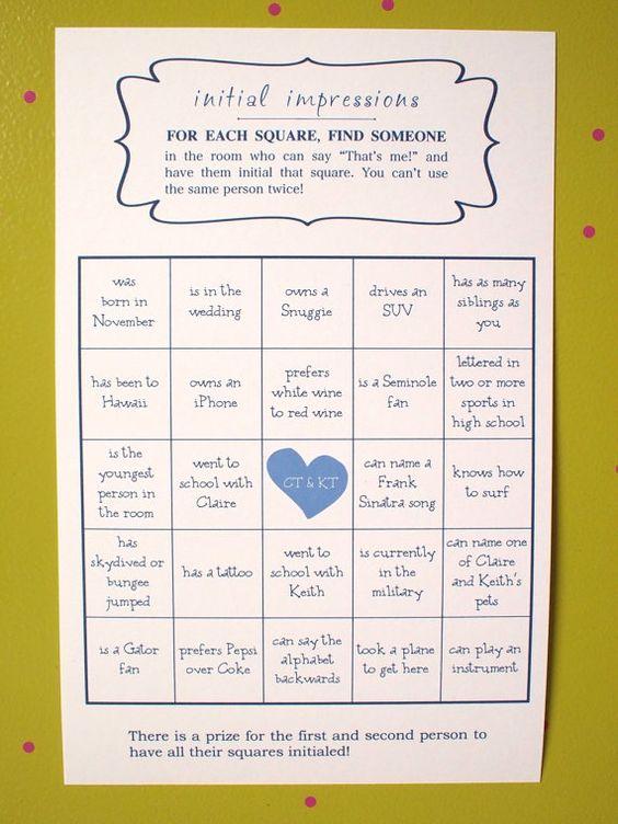 wedding bingo bingo and ice breakers on pinterest