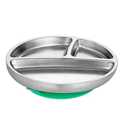 Avanchy Infant Stainless Steel Baby 18//8 BPA Free Lead Free and Phthalate Free. Green Toddler BPS Free Younger Baby Kid Child Spoons 2 Pack