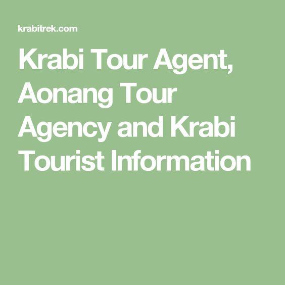 Krabi Tour Agent, Aonang Tour Agency and Krabi Tourist Information
