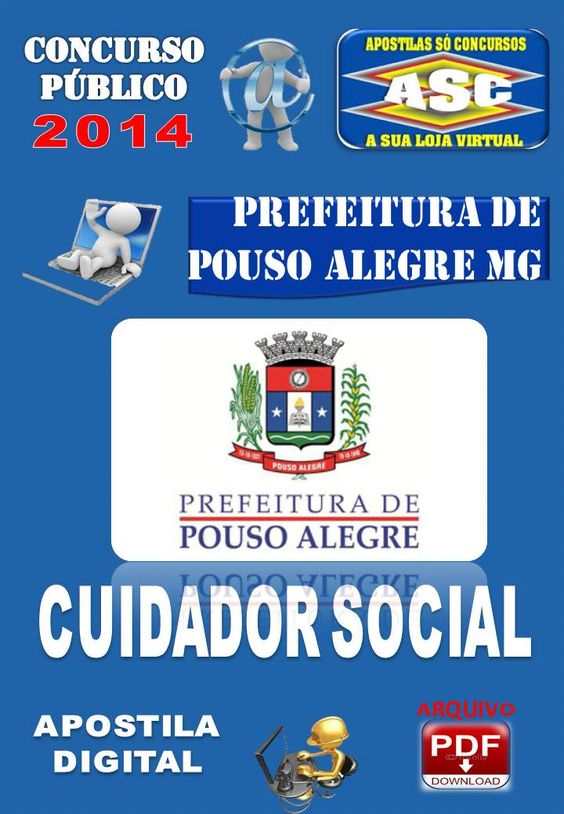 Apostila do Concurso Publico Prefeitura de Pouso Alegre MG Cuidador Social 2014