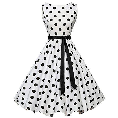 Ahlsengg Women S Fashion Wave Print Bow Tie Waist Big Swing Dress Best Halloween Costumes Dres Vintage Polka Dot Dress Vintage Dresses Cheap Vintage Clothing