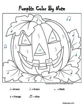 Pumpkin Color by Note  Spooky Sounds  Pinterest  Pumpkins