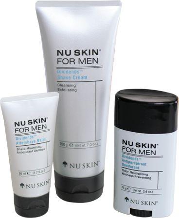 Nu Skin for Men Dividends Complete Set
