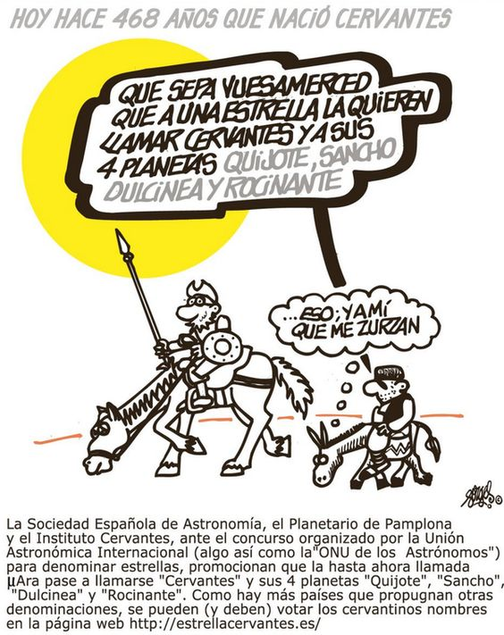 Cervantes, estrellas, planetas y.... que sigue habiendo clases...