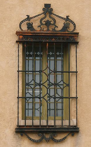 Window with decorative security bars santa fe new mexico by cocoi m via flickr home style - Decorative window grills ...