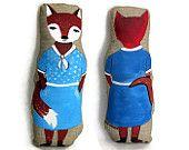 Mrs. Lady Fox Plush - children's plush toy, nursery fox, plush fox, fox, fox pillow