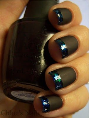 Across the Universe french tips, matte