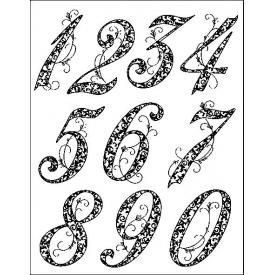 numbers #digi stamp #silhouette