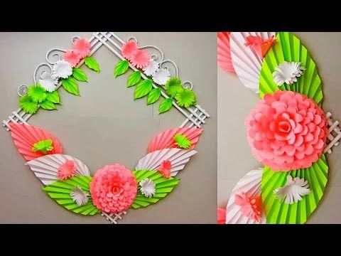 Diy Simple Home Decor 28 Wall Door Decoration Hanging Flower Paper Craft Ideas 30 Youtube Paper Flowers Craft Flower Crafts Paper Flowers