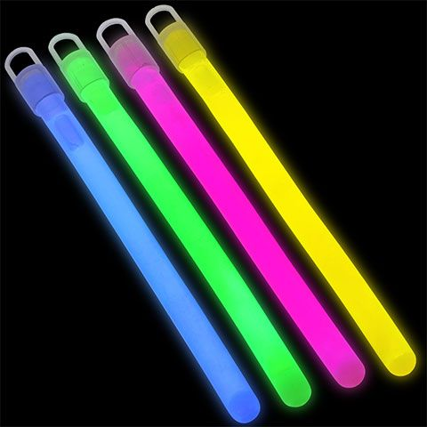 Play Glow Colorful Glow Sticks With Lanyards 4 Ct Packs Glow Sticks Glow Outdoor Evening Party