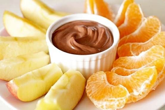 Nutella Yogurt Fruit Dip