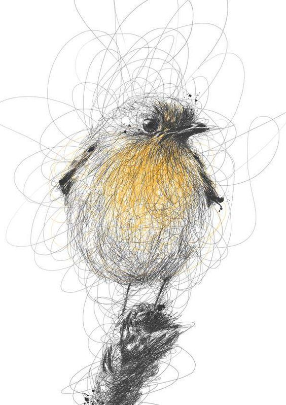 awesome pencil bird drawing                                                                                                                                                      More