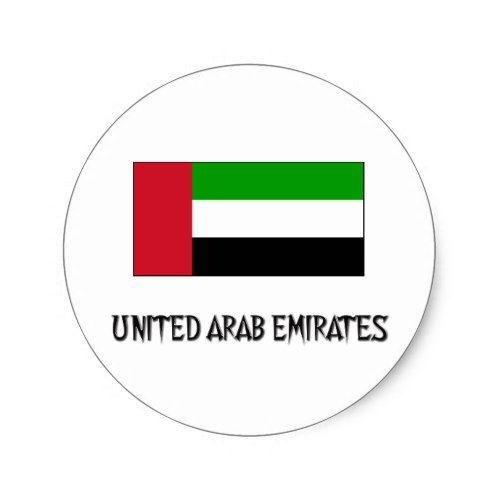 United Arab Emirates Flag Classic Round Sticker Zazzle Com Emirates Flag United Arab Emirates Emirates