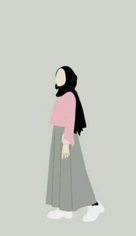 Pin Oleh Farah Addlene Di Hijab Cartoon Di 2021 Ilustrasi Gadis Kartun Hijab Ide Berpose Cartoon hijab woman wallpaper