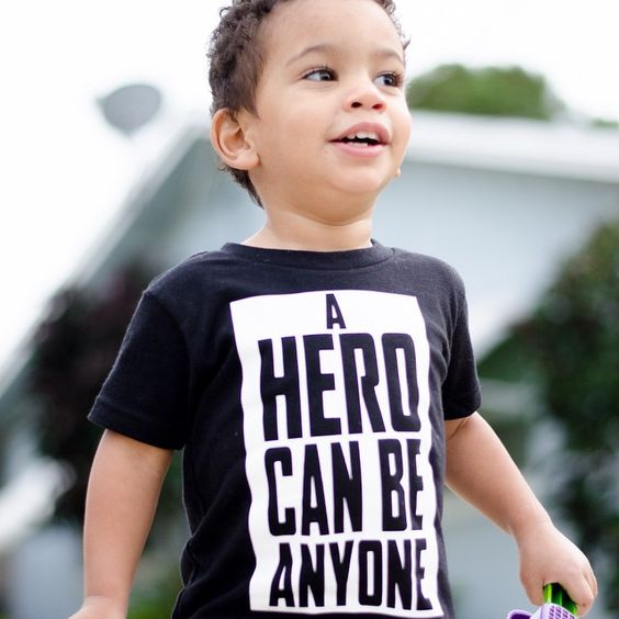 "#LeonardoMaximus is his Dark Knight inspired ""A Hero Can Be Anyone"" shirt. Accepting pre orders via PayPal invoice. DM us for details"