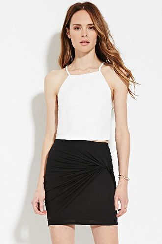 Contemporary Gathered Mini Skirt | Forever 21 Contemporary - 2000150481