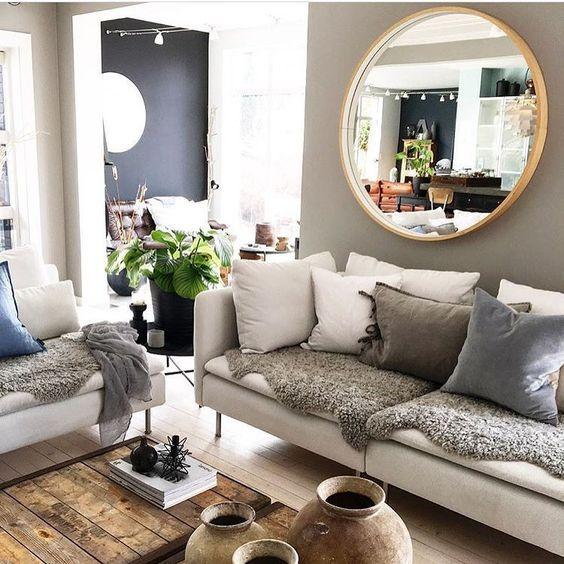 Imágenes de decoración de salas con espejos, decoracion de salas con  espejos en la pared, espejos para decorar pared…   Interior design, Living  room inspo, Interior