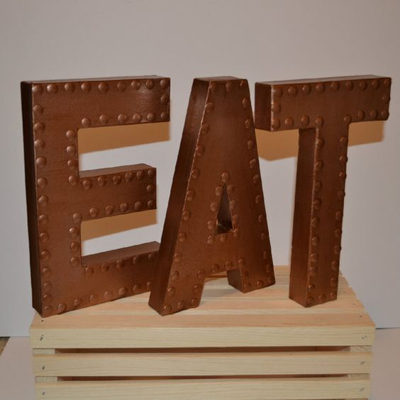 kitchen wall decor eat sign eat letters by - Kitchen Wall Decor