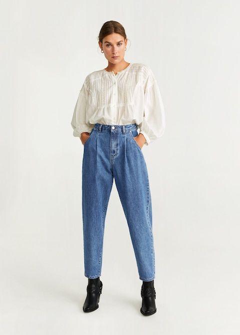 Regina baggy jeans Damer | mom jeans in 2019 | Mango jeans