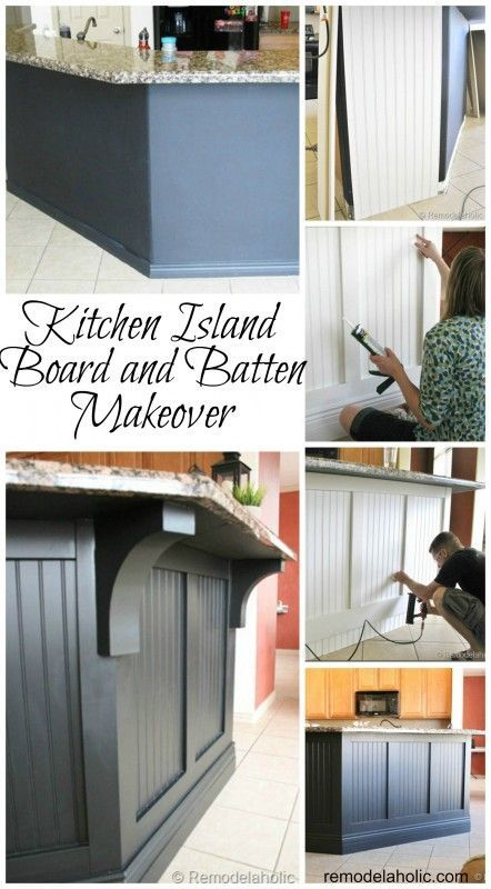 Kitchen Island Updated with Board and Batten remodelaholic.com #island #kitchen #board_and_batten