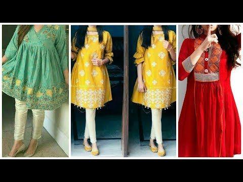 Casual Short Frocks Dresses Designs