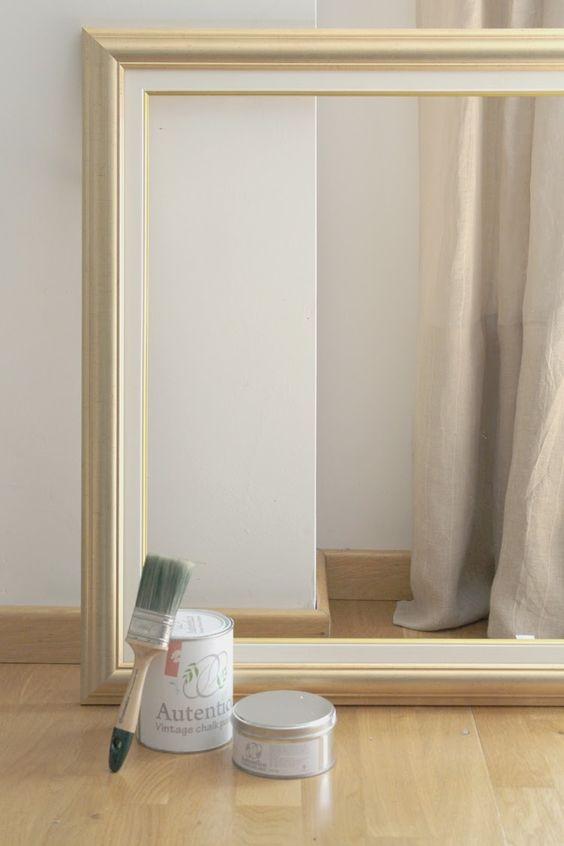 Pintando un marco con chalk paint pintar mueble blanco - Pintar chalk paint ...