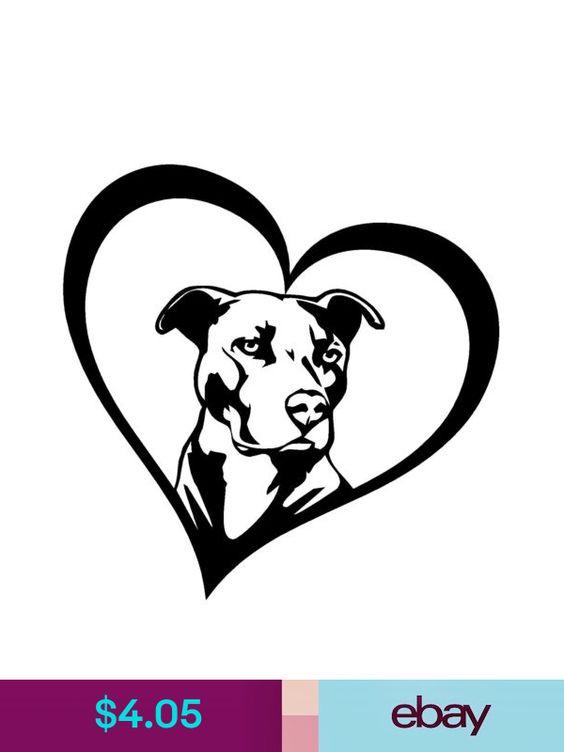ADOPT-A-BULL Vinyl Decal Sticker Car Window Bumper I Love My Pitbull Rescue Dog