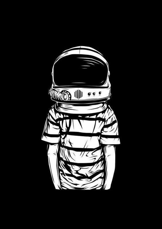 Black White Wallpaper Seni Jalanan Seni Jalanan 3d Seni Astronaut black and white wallpaper
