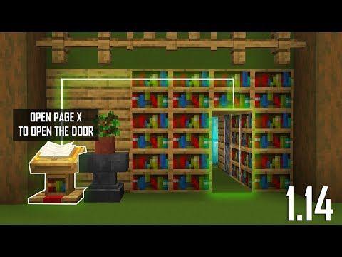 Cara Membuat Lectern Hidden Door Minecraft Indonesia 1 14 Youtube In 2020 Minecraft Castle Minecraft Redstone Amazing Minecraft
